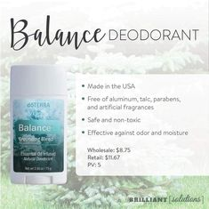 My first ever experience with doTERRA oils was with Balance and now it's in the deodorant 🙌 No aluminium, talc, parabens or artificial fragences over here! I'll be walking round in a cloud of balance ooo yer 😍 Essential Oil Mixtures, Essential Oils, My Doterra, Natural Deodorant, Natural Solutions, Moisturizer, Fragrance, Essentials, Cloud