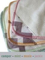 Sustainablebabyish Organic Bamboo Fleece (OBF) WIPES Grey Chevron Print