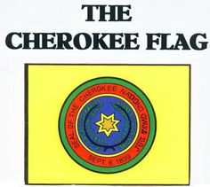 Native American: The Cherokee Flag. Cherokee Flag, Cherokee Symbols, Cherokee History, Cherokee Tribe, Native American Cherokee, Native American Symbols, Native American History, American Indians, Cherokee Indians