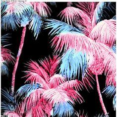 Palms tropical print pattern