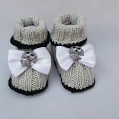 A personal favorite from my Etsy shop https://www.etsy.com/listing/271163127/dog-puppy-baby-booties-grey-booties