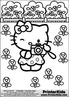 hello kitty printable colouring sheet with hello kitty hello kitty