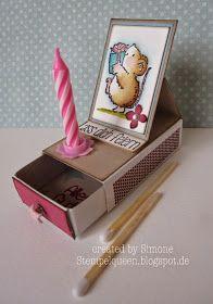 """**StempelQueen**: **...""""Kleine Worte"""" mit JM Creation...** (micro card size 1 7/8 x 1 3/8)"""
