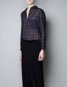 CHECKED SHIRT WITH POCKETS - Shirts - Woman - New collection - ZARA United Kingdom