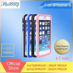 """Nuevo diseño altamente resistente al agua Case para iphone 6 4.7 """" a prueba de golpes a prueba de polvo bajo el agua Ultra delgado impermeable cajas del teléfono móvil"""