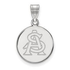 Logoart Sterling Silver Gp Pittsburg State University Extra Small Dangle Bead Char