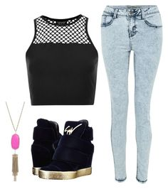 """""""Untitled #486"""" by blue-ember on Polyvore featuring Giuseppe Zanotti, Topshop and Kendra Scott"""
