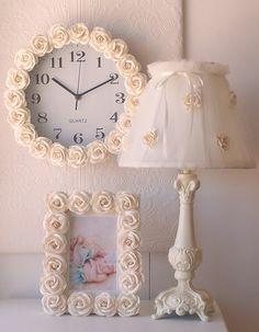 Cream Rose Picture Frame