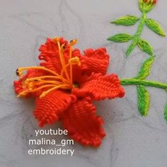 Hand Embroidery Patterns Flowers, Basic Embroidery Stitches, Hand Embroidery Videos, Embroidery Stitches Tutorial, Embroidery Flowers Pattern, Creative Embroidery, Simple Embroidery, Embroidery Hoop Art, Hand Embroidery Designs