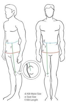 Kilt Measuring Guide Image
