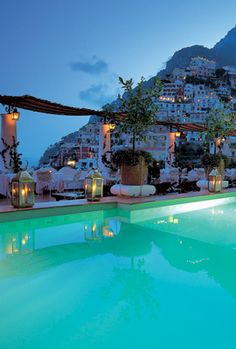 Le Sirenuse, Positano, Italy - beautiful place to stay while in Positano.  If you can't stay there, at least go for a romantic candlelight dinner