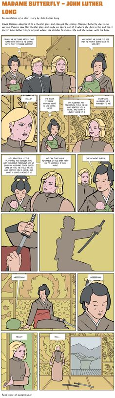 Madame Butterfly - John Luther Long - a comic by Ayal Pinkus