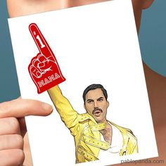 Freddy Mercury Mother's Day Card