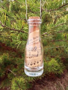 Vintage Hymnal Glass Jar Ornament