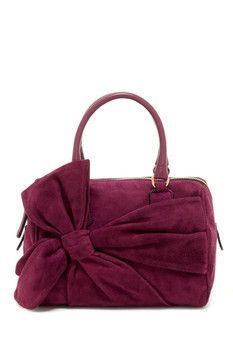 Valentino Valentino Suede Bow Handbag