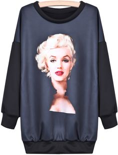 love this Marilyn portrait, better than the too obvious Warhol's one ... good to see it on a sweatshirt ...