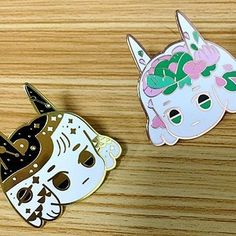 Some enamel pins coming soon with store reopening next Tuesday! (photo courtesy of supplier)