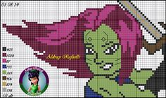 Gamora - Guardians of the Galaxy pattern by Aldray Ferreira