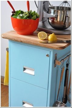 repurpose a file cabinet - Click image to find more Food & Drink Pinterest pins