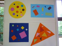 Durant le mois de mai, les petits ont travaillé sur les formes géométriques, notamment à partir de deux albums :        Nous avons observé ...