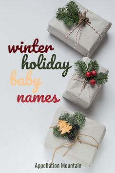 Looking for winter holiday baby names? This list of lists will help you find the perfect choice, whether inspired by Christmas, Hanukkah, Kwanzaa, the natural world, or something else. 'Tis the season!