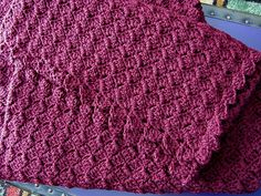 """(Bev's notes: NEWBORN SIZE: 34"""" I am using baby yarn and a size G hook and chain 130 loosely, to start and it measures about 34"""" across)"""