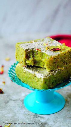 Badam pista burfi ( Almond and pistachio fudge) - Aromatic Essence