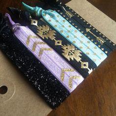 Creaseless Hair Tie Bracelets: Penelope by eastendbows on Etsy Baby Hair Accessories, Handmade Hair Accessories, Hair Tie Bracelet, Bracelets, Creaseless Hair Ties, Hair Band, My Etsy Shop, Make Up, Unique Jewelry