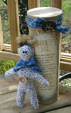 Dammit Doll -  Tutorial to make it. One of my patients had one and loved it! Definitely want to try making one....or more-dammit! Lol!!!