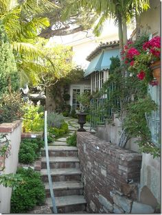 Pavers on the terrace, awnings and landscape