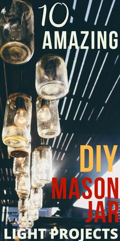 I love Mason jars! Check out these cool DIY Mason Jar Light Projects! They just might inspire you to do a little mason jar decorating!