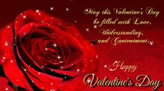 Happy valentines day animated greeting e-card with rose flower. Send this e-card to your near and dear one. May this valentines day be filled with love, understanding and contentment....  Happy Valentine's Day !