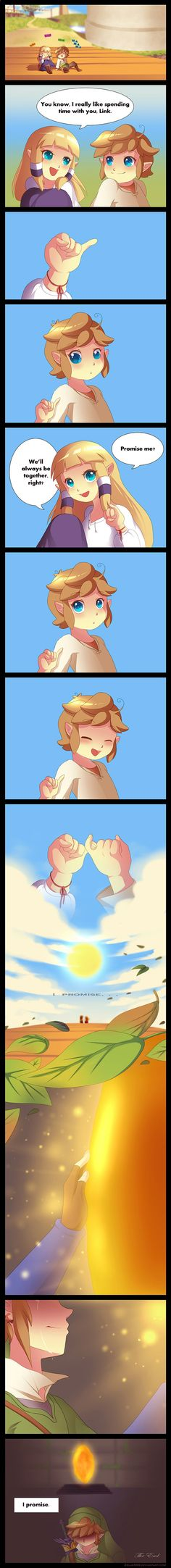 Zelda Skyward Sword: I promise by *Zellie669 on deviantART (That part of the game is cruel because it almost made me cry.)