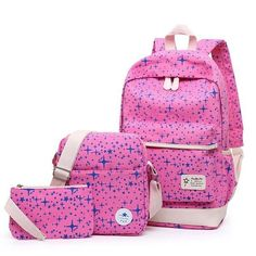 Fashion Star Girl Canvas Backpack Schoolbags School For Girl