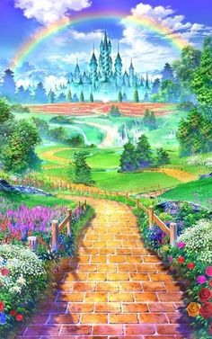 Click this image to show the full-size version. Wizard Of Oz Decor, Wizard Of Oz 1939, Cute Wallpapers, Wallpaper Backgrounds, Land Of Oz, Yellow Brick Road, Shall We Date, Judy Garland, Emerald City