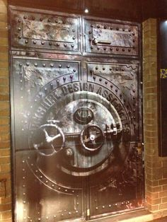 Vinyl wrapped 'Vault' entrance door to our Design Studio in Harrogate