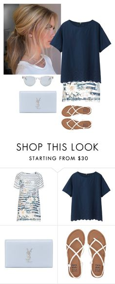 """""""Untitled #987"""" by srlangley ❤ liked on Polyvore featuring Open End, Uniqlo, Yves Saint Laurent, Billabong and Sun Buddies"""