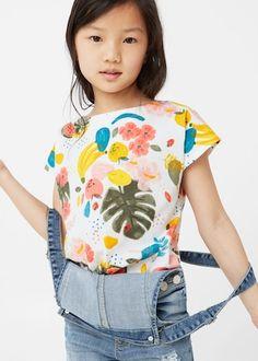 Tropical print t-shirt -  Kids | MANGO Kids USA