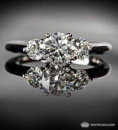 #Whiteflash #Verragio Engagement Ring: WhiteFlash, 'Trois Brilliant' 3-Stone Diamond Setting