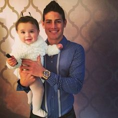 James Rodriguez (with daughter Salome) | 31 Soccer DILFs Who Will Make Your Heart Melt