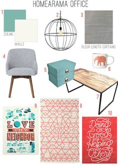 Loving the colors and vibe from the YHL Homearama mood board. Especially the light and rug!