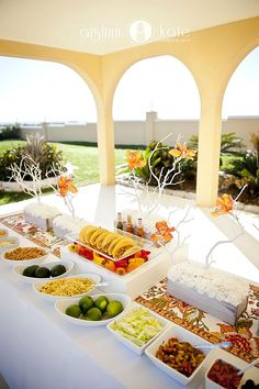 How To Decorate Wedding Taco Bar ❤ See more: http://www.weddingforward.com/wedding-taco-bar/ #weddings