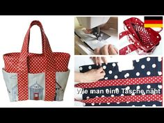 Wie man eine Tasche näht - Schritt für Schritt Nähanleitung (Box Bag Schnittmuster) - YouTube