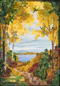 Wisconsin Autumn by Sue McBride Gilgen. Art Quilt gilgenart