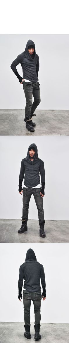 Tops :: Knits :: Re)Built-in Warmer Wool Turtle Hood-Knit 24 - Mens Fashion Clothing For An Attractive Guy Look