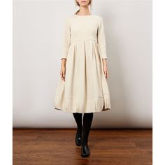 The oatmeal Lottie Dress is made out of the most beautiful wool and cotton blend with a worn, slightly distressed finish that is soft to the touch. This tailored, fitted dress is both flattering and stylish that will become a firm favourite.