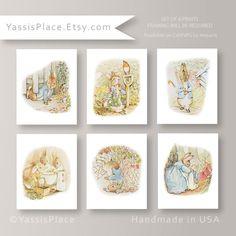 Peter Rabbit Nursery Decor Beatrix Potter Nursery by YassisPlace, $48.00