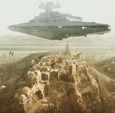 Star Destroyer Over Jedha