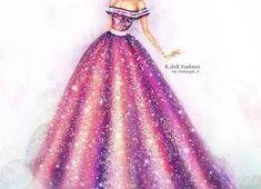 Sketch of dress of fashion designer 87