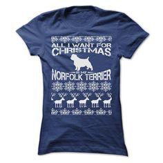 (Tshirt Fashion) ALL I WANT FOR XMAS IS MY NORFOLK TERRIER T SHIRTS [Top Tshirt Facebook] Hoodies, Funny Tee Shirts